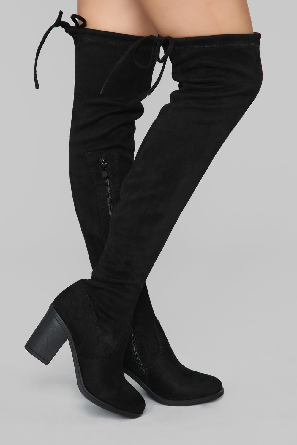 To Be Or Not Be Heeled Boot - Black