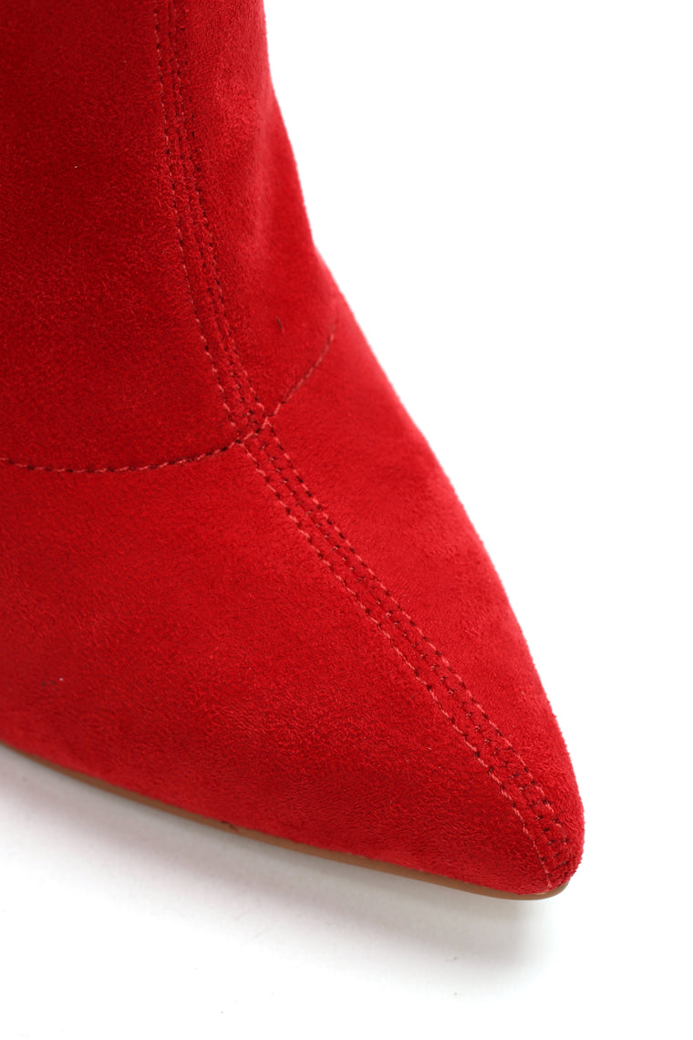 You're Not Ready Heeled Boot - Red