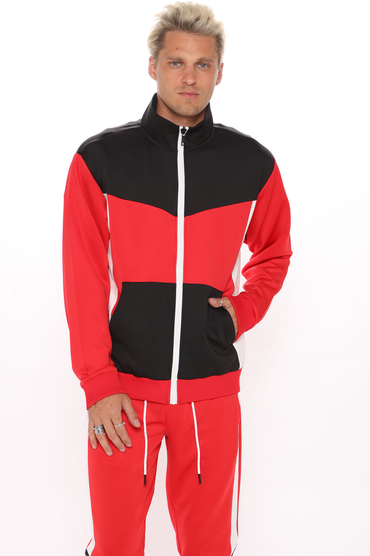 Arlo Track Jacket - Red/Combo