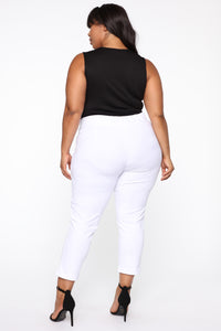 Booked And Busy Pants - White Angle 11