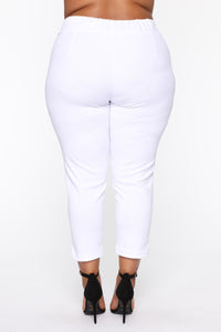 Booked And Busy Pants - White Angle 12