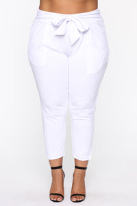 Booked And Busy Pants - White Angle 8