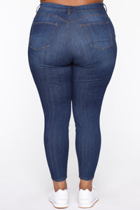 All The Right Curves Booty Lifter Jeans - MediumBlueWash Angle 6