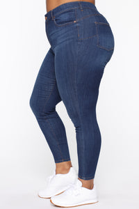 All The Right Curves Booty Lifter Jeans - MediumBlueWash Angle 4