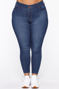 All The Right Curves Booty Lifter Jeans - MediumBlueWash Angle 2