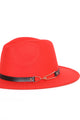 The Other Half Full Brim Hat - Red/Black