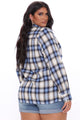 Good Behavior Plaid Top - Blue