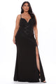 Keep Me Elegant Mermaid Maxi Dress - Black