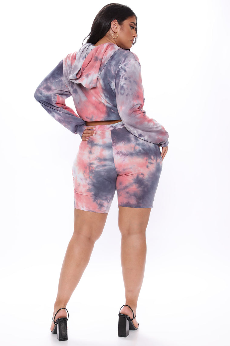 Out Of This World Biker Short Set - Grey/combo