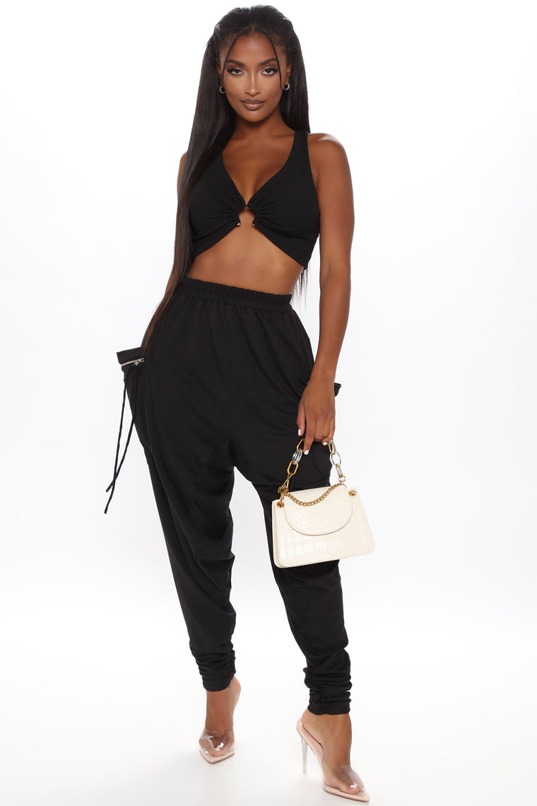 3 Wishes Super Slouchy Pant - Black