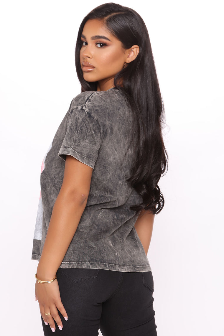 Expensive Taste Washed Top - Charcoal