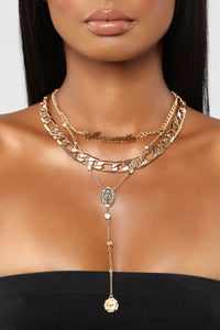 Be My Mamacita Layered Necklace - Gold