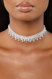 Catch My Fall Choker - Silver