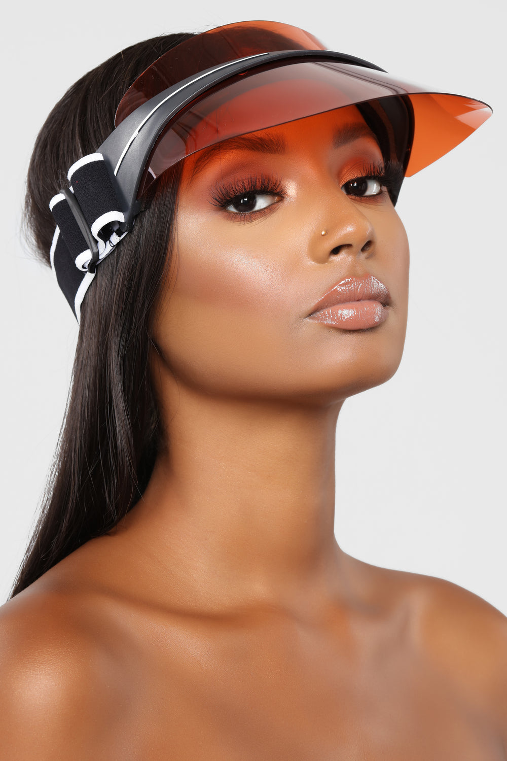 Throw The Shade Shield Visor - Red/Orange