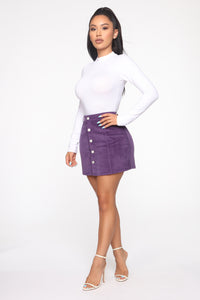 On My Level Corduroy Mini Skirt - Purple