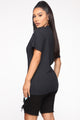 You Lose Tunic Top - Black