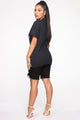 Monetary Motivation Tunic Top - Black