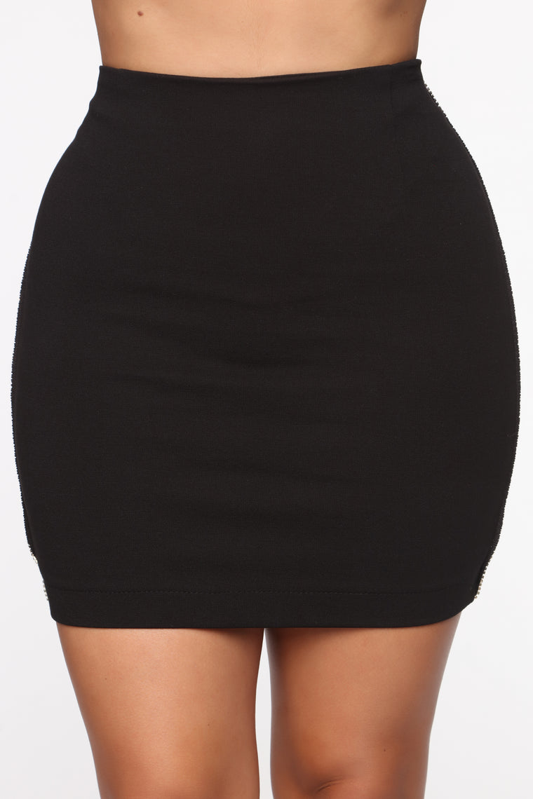 Diamond Girl Mini Skirt - Black