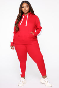 Analissa Pullover Hoodie - Red Angle 7