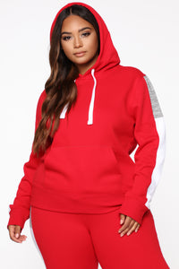 Analissa Pullover Hoodie - Red Angle 6