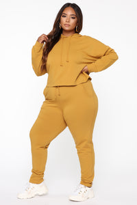 Latest And Greatest French Terry Jogger - Mustard