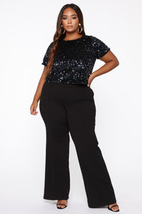 Shine Bright Sequined Top - Black/combo