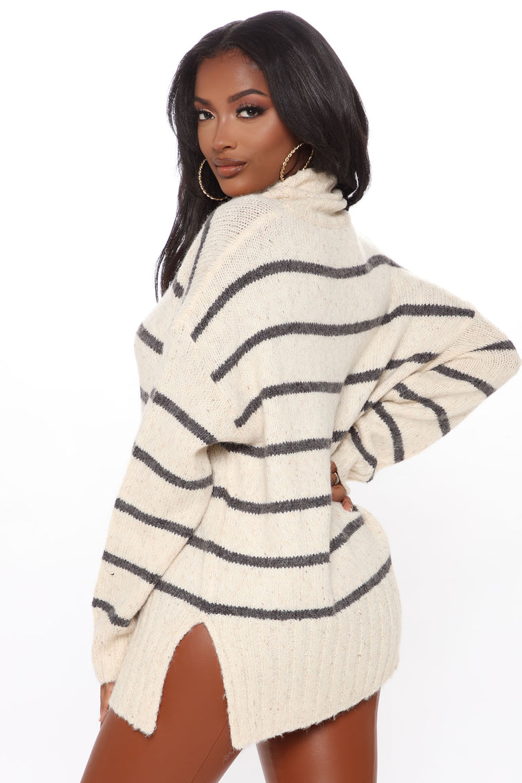 Cozier Than Ever Sweater - Oatmeal/combo