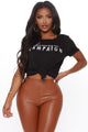 Champagne Campaign Top - Black