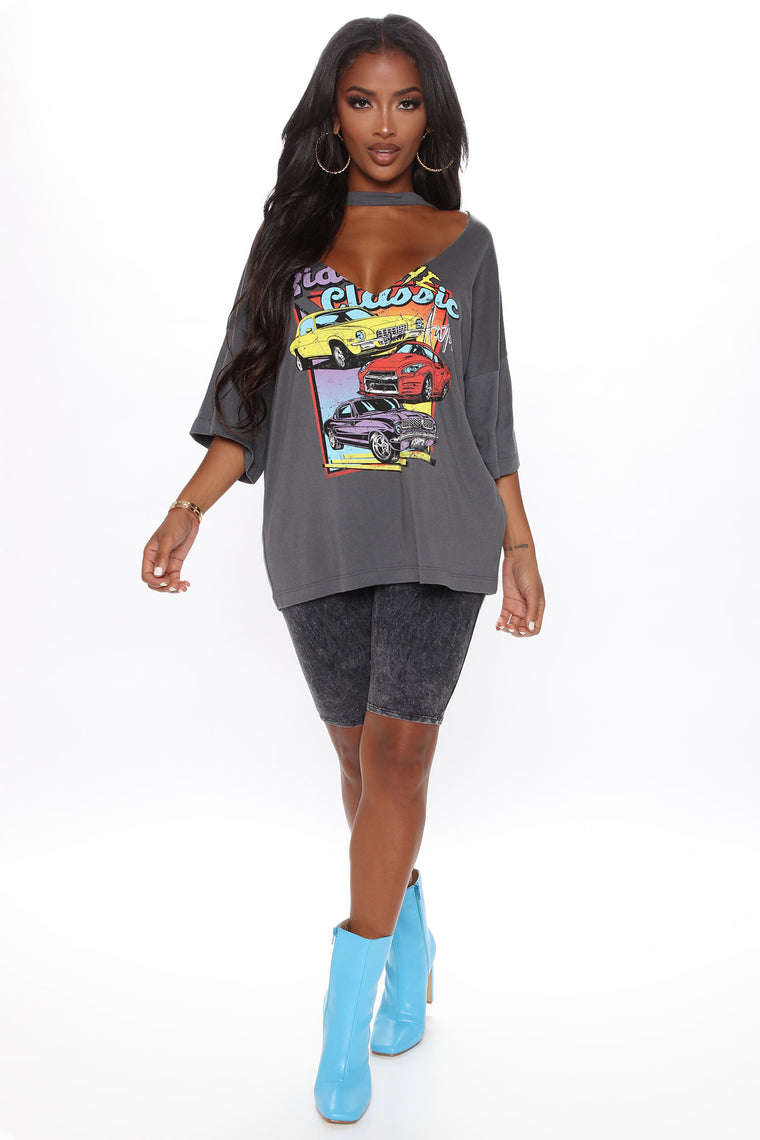 Ride The Classic Top - Charcoal