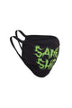 Same Shit All Day Face Mask - Black/Green