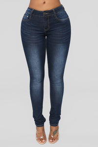 Pure Vanity Skinny Jeans - Dark Denim
