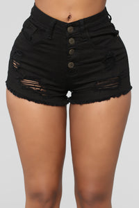 Venezuela Denim Shorts - Black