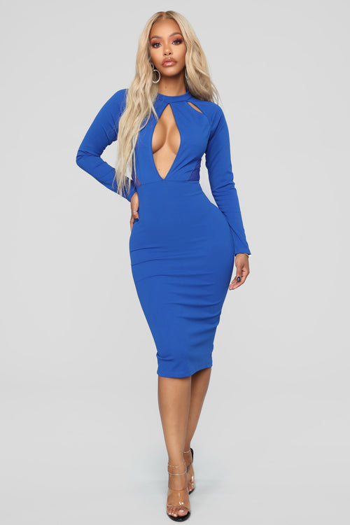Dreamin' Of You Tonight Dress - Royal