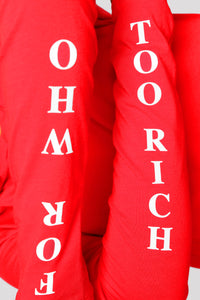 Too Rich Hoodie - Red