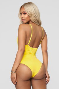 Malibu Pool Party Swimsuit - Yellow