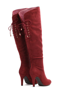 Here I Come Heeled Boot - Burgundy