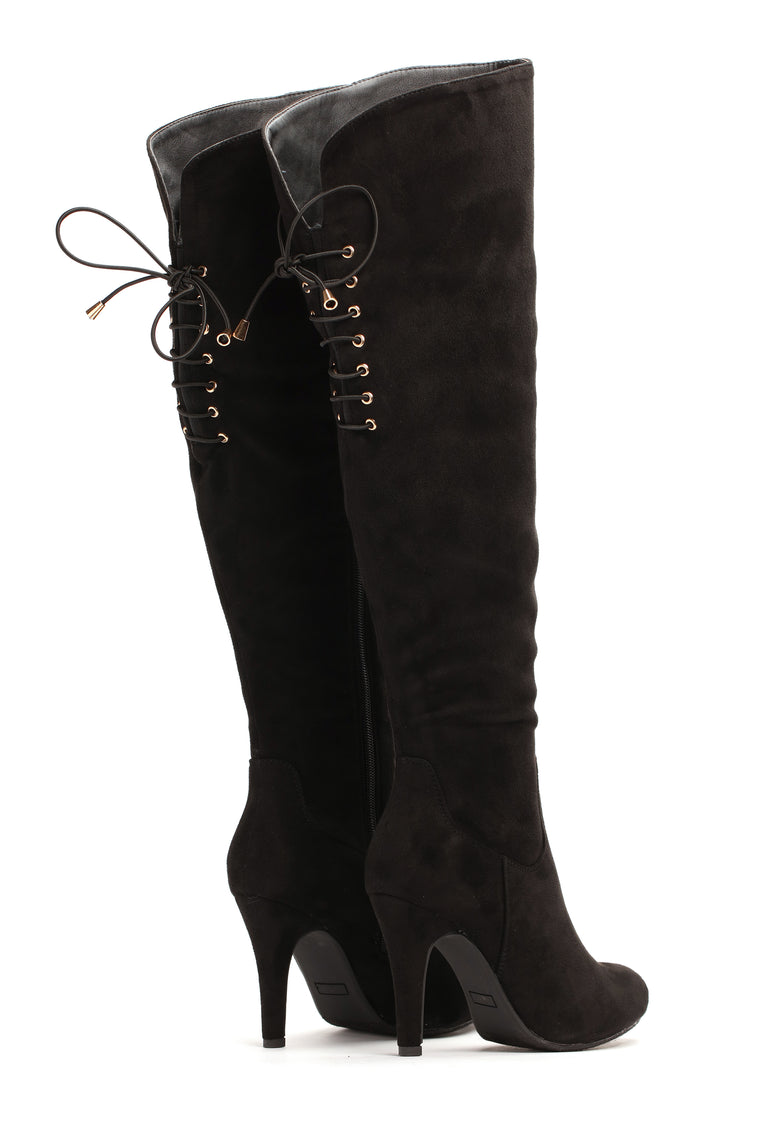 Here I Come Heeled Boot - Black