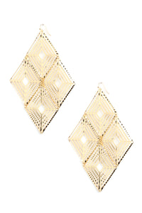 Thou Art Decorated Earrings - Gold