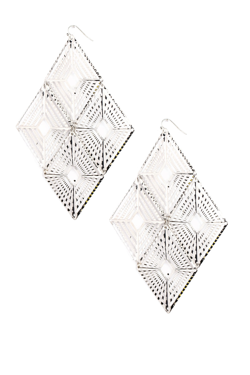 Thou Art Decorated Earrings - Silver