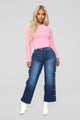 Tickle Me Pink Fuzzy Sweater - Pink