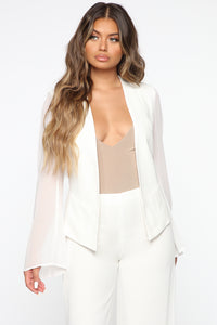 Back To Reality Suit Set - Ivory