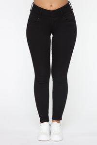 Going Places Skinny Jeans - Black