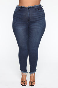 Pour It Up High Rise Jeans - Dark Denim Angle 8