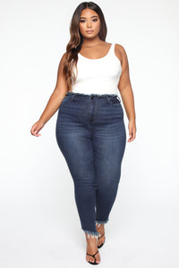 Pour It Up High Rise Jeans - Dark Denim Angle 7