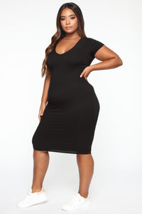 So Necessary Midi Dress - Black