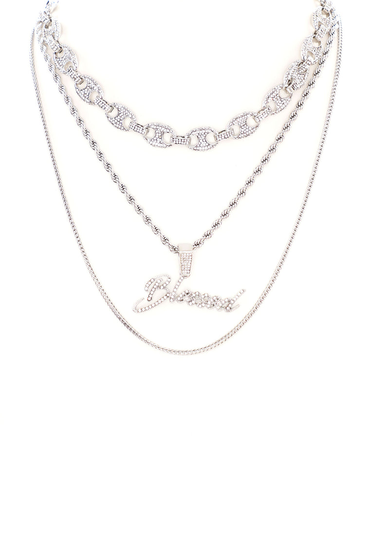 Blessed Chain 3 Piece Set - Silver