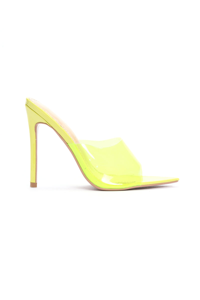 Those Are Fire Heeled Sandals - Yellow