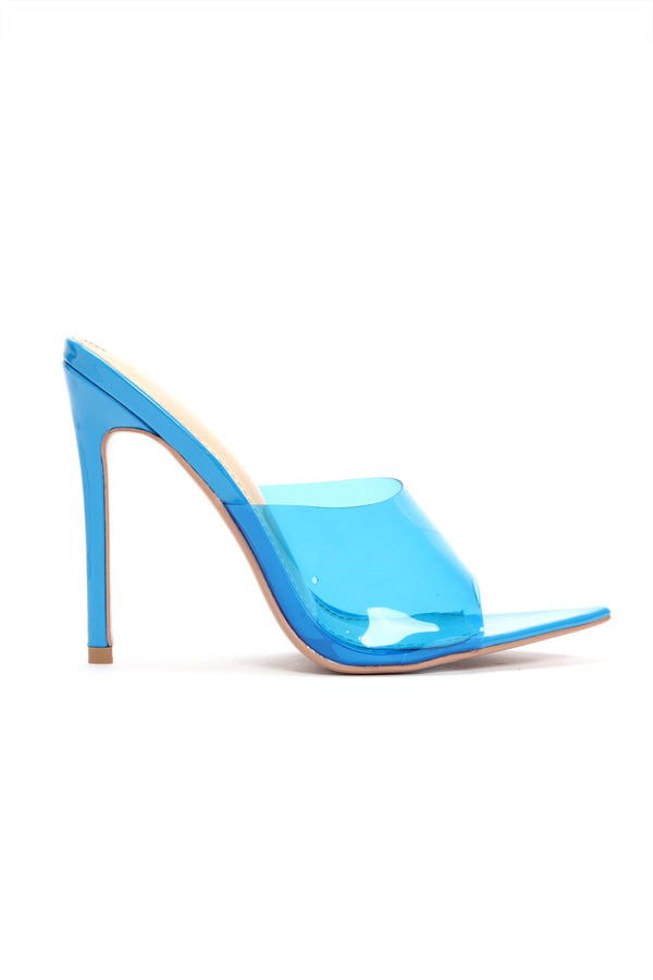 057bba83da9 Those Are Fire Heeled Sandals - Blue