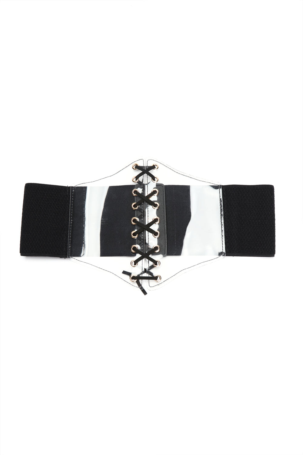 See Right Through You Belt - Black/Clear