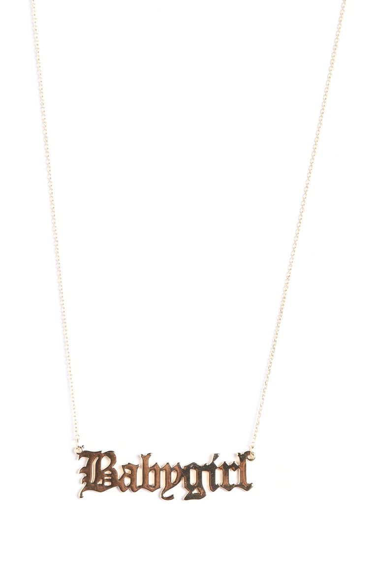 Baby Babygirl Necklace - Gold